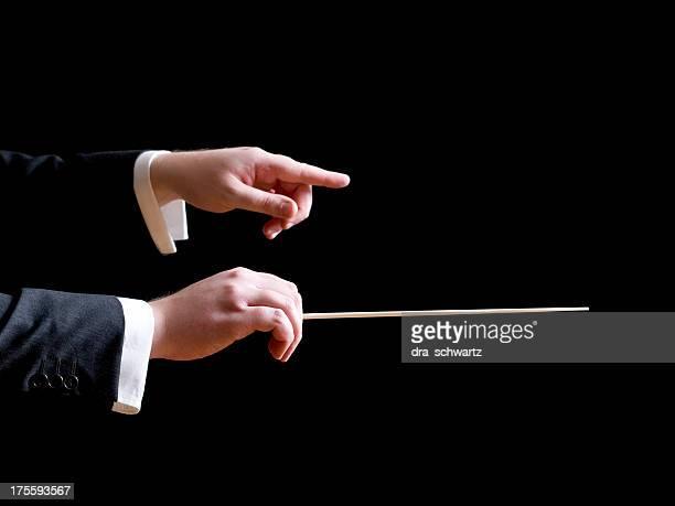 Chef d'orchestre de musique, pointant