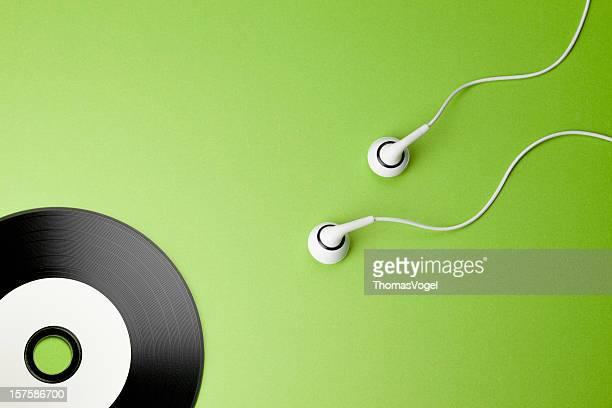 La musique. La créativité Concepts et idées sexe casque audio CD disque séminifère