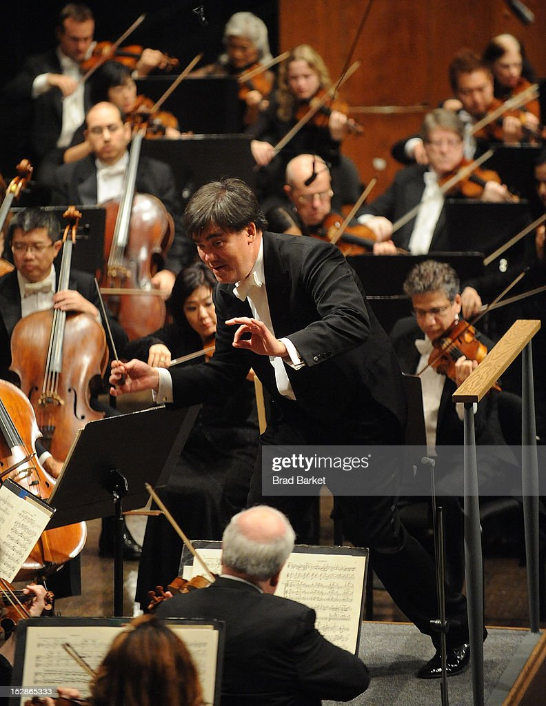 Music Director Alan Gilbert performs at the New York Philharmonic 2012-2013 Opening Gala at Avery Fisher Hall at Lincoln Center for the Performing Arts on September 27, 2012 in New York City.