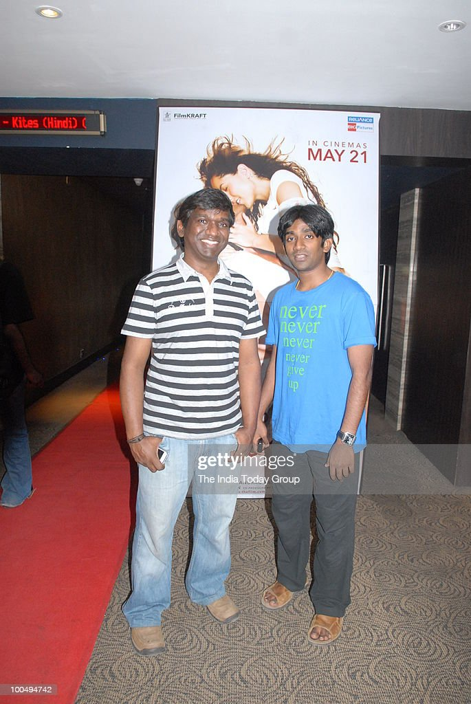 Music Director Karthik Raja (Left) at a special screening of the film Kites at INOX in Chennai on Monday, May 24, 2010.
