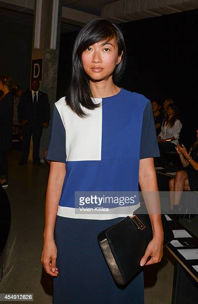 Music director Mimi Xu attends the Edun fashion show during MercedesBenz Fashion Week Spring 2015 at Skylight Modern on September 7 2014 in New York...