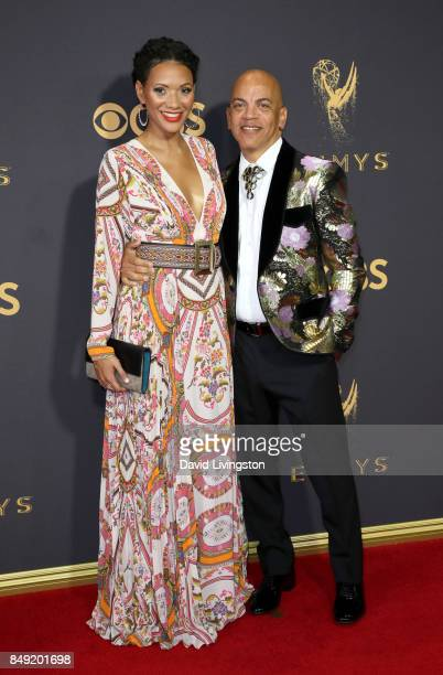 Music director Rickey Minor and Rachel Montez Minor attend the 69th Annual Primetime Emmy Awards Arrivals at Microsoft Theater on September 17 2017...