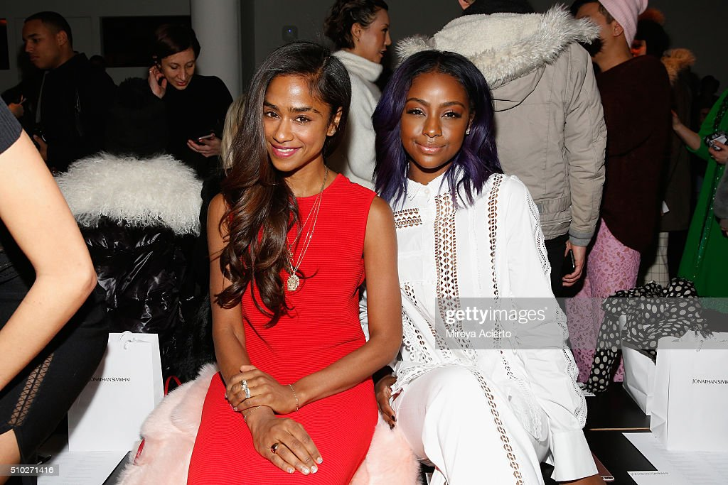 Music director <a gi-track='captionPersonalityLinkClicked' href=/galleries/search?phrase=Vashtie+Kola&family=editorial&specificpeople=5834592 ng-click='$event.stopPropagation()'>Vashtie Kola</a> (L) and singer <a gi-track='captionPersonalityLinkClicked' href=/galleries/search?phrase=Justine+Skye&family=editorial&specificpeople=11149408 ng-click='$event.stopPropagation()'>Justine Skye</a> (R) attend the Jonathan Simkhai fashion show during Fall 2016 MADE Fashion Week at Milk Studios on February 14, 2016 in New York City.