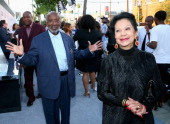 Music executive Clarence Avant and Jacqueline Avant attend the BET AWARDS '14 Debra Lee's PreDinner held at Milk Studios on June 28 2014 in Los...