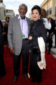 Music executive Clarence Avant and wife Jacqueline Avant attend the 45th NAACP Image Awards presented by TV One at Pasadena Civic Auditorium on...