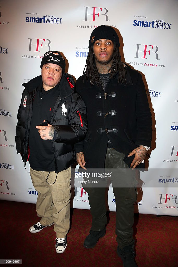 Music executive James 'Bimmy' Antney and recording artist <a gi-track='captionPersonalityLinkClicked' href=/galleries/search?phrase=Waka+Flocka+Flame&family=editorial&specificpeople=6915851 ng-click='$event.stopPropagation()'>Waka Flocka Flame</a> attend Harlem's Fashion Row Presentation during Fall 2013 Mercedes-Benz Fashion Week at The Apollo Theater on February 7, 2013 in New York City.