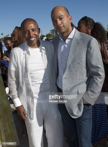 Music executive Kevin Liles and COO of BET Scott Mills attend GREY GOOSE Celebrates Black Excellence With The 2nd Annual KWL BET Awards Summer Soiree...
