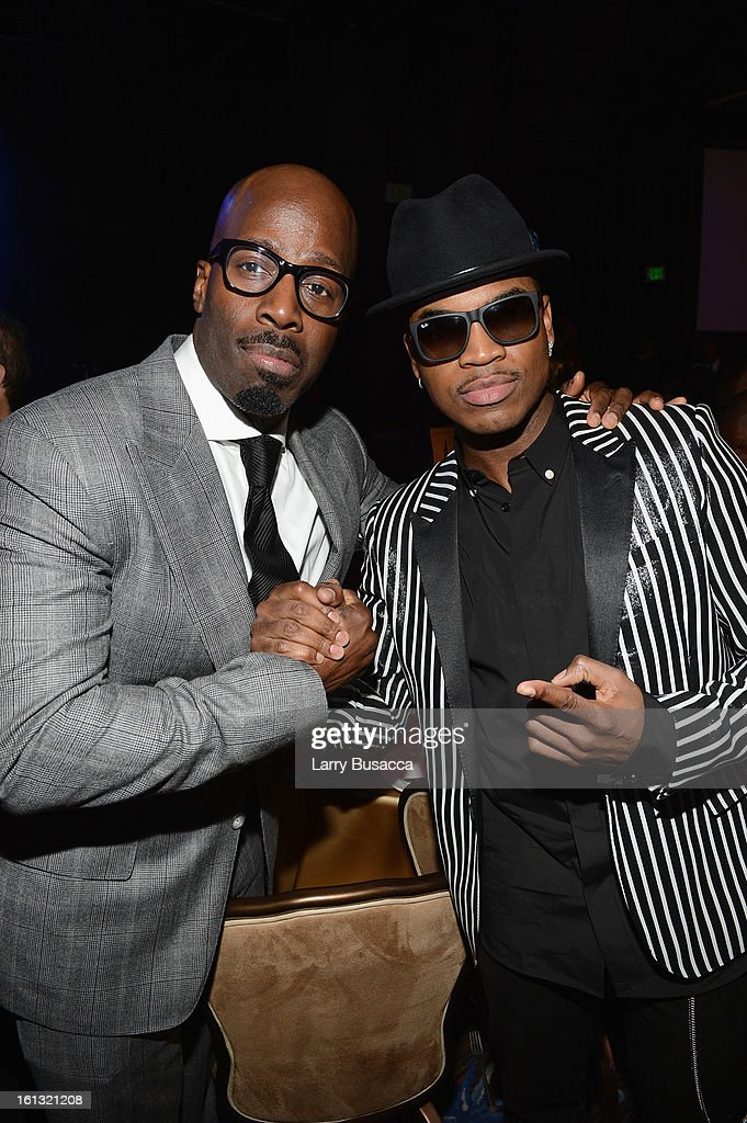 Music executive Mark Pitts (L) and singer Ne-Yo attend the 55th Annual GRAMMY Awards Pre-GRAMMY Gala and Salute to Industry Icons honoring L.A. Reid held at The Beverly Hilton on February 9, 2013 in Los Angeles, California.
