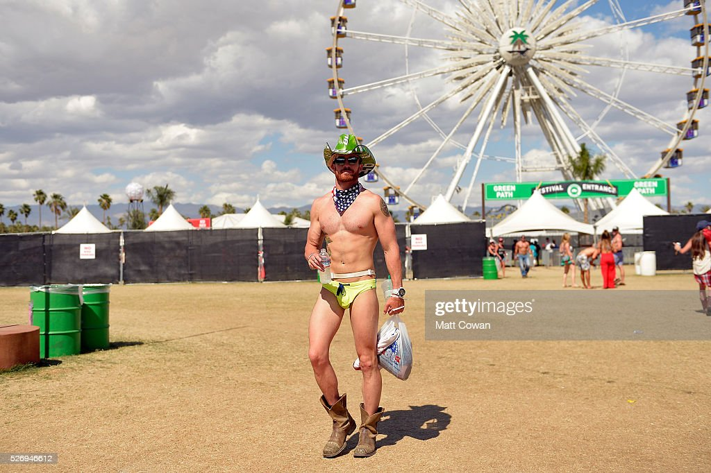 A music fan attends 2016 Stagecoach California's Country Music Festival at Empire Polo Club on May 01, 2016 in Indio, California.