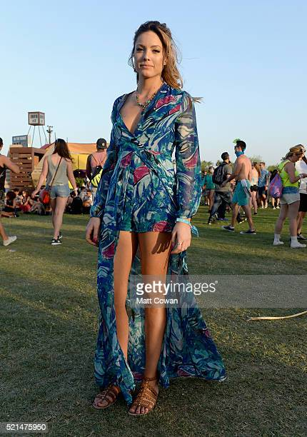 Music fan attends day 1 of the 2016 Coachella Valley Music Arts Festival at the Empire Polo Club on April 15 2016 in Indio California