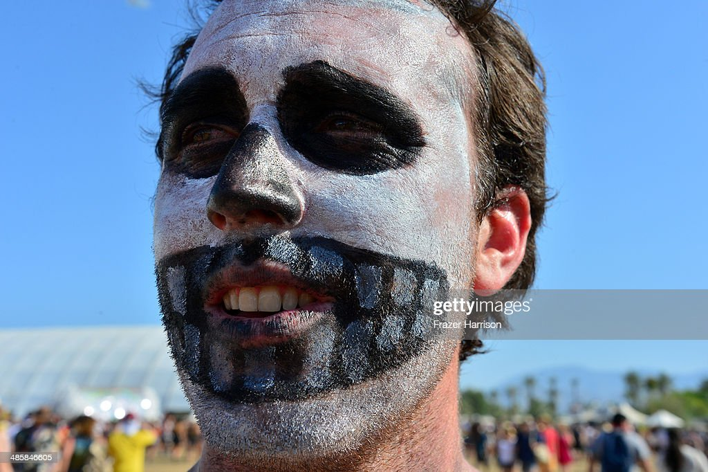 Music fan attends day 3 of the 2014 Coachella Valley Music & Arts Festival at the Empire Polo Club on April 20, 2014 in Indio, California.