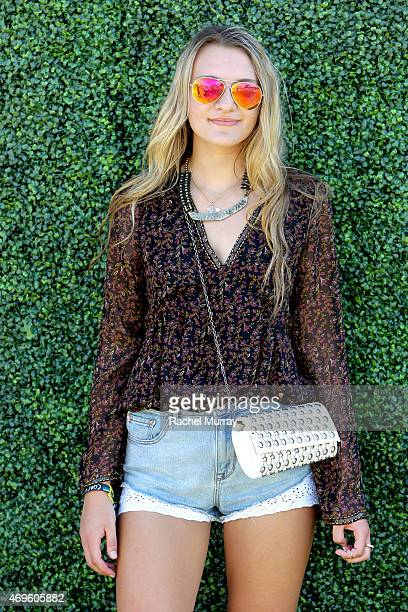 Music fan attends the 2015 Coachella Valley Music and Arts Festival Weekend 1 at The Empire Polo Club on April 12 2015 in Indio California