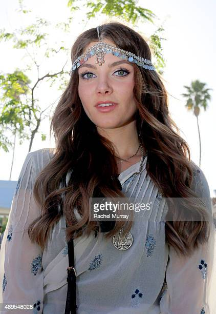 Music fan Chloe Rodgers in a ZARA top and LF accesories attends the 2015 Coachella Valley Music and Arts Festival Weekend 1 at The Empire Polo Club...