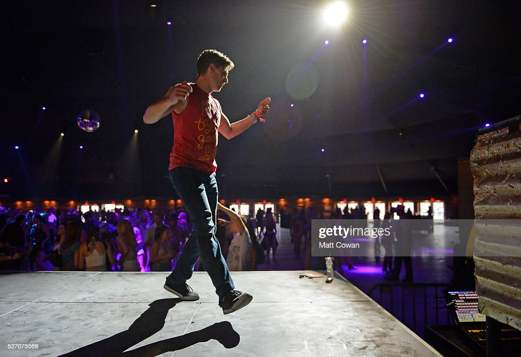 A music fan dances in the Honky Tonk during 2016 Stagecoach California's Country Music Festival at Empire Polo Club on May 01, 2016 in Indio, California.
