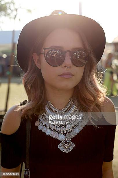 Music fan Murphy Sherwood in Quay Sunglasses and LF accesories attends the 2015 Coachella Valley Music and Arts Festival Weekend 1 at The Empire Polo...