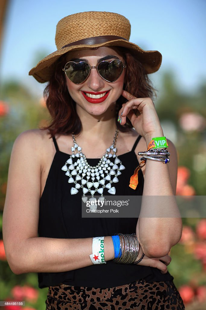 Music fan Piera Pizzo of Brooklyn New York wearing shoes by Steve Madden dress by Free People and jewelry by Lucky attends day 2 of the 2014...