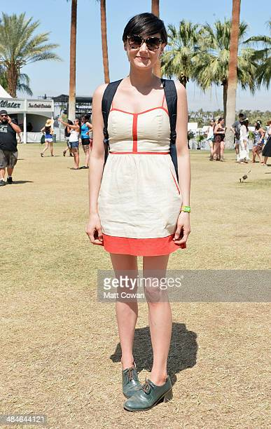 Music fan wearing Urban Outfitters attends day 3 of the 2014 Coachella Valley Music Arts Festival at the Empire Polo Club on April 13 2014 in Indio...