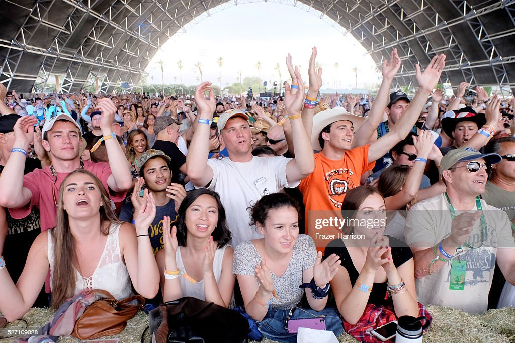 Music fans are seen at Palomino stage during 2016 Stagecoach California's Country Music Festival at Empire Polo Club on May 01, 2016 in Indio, California.