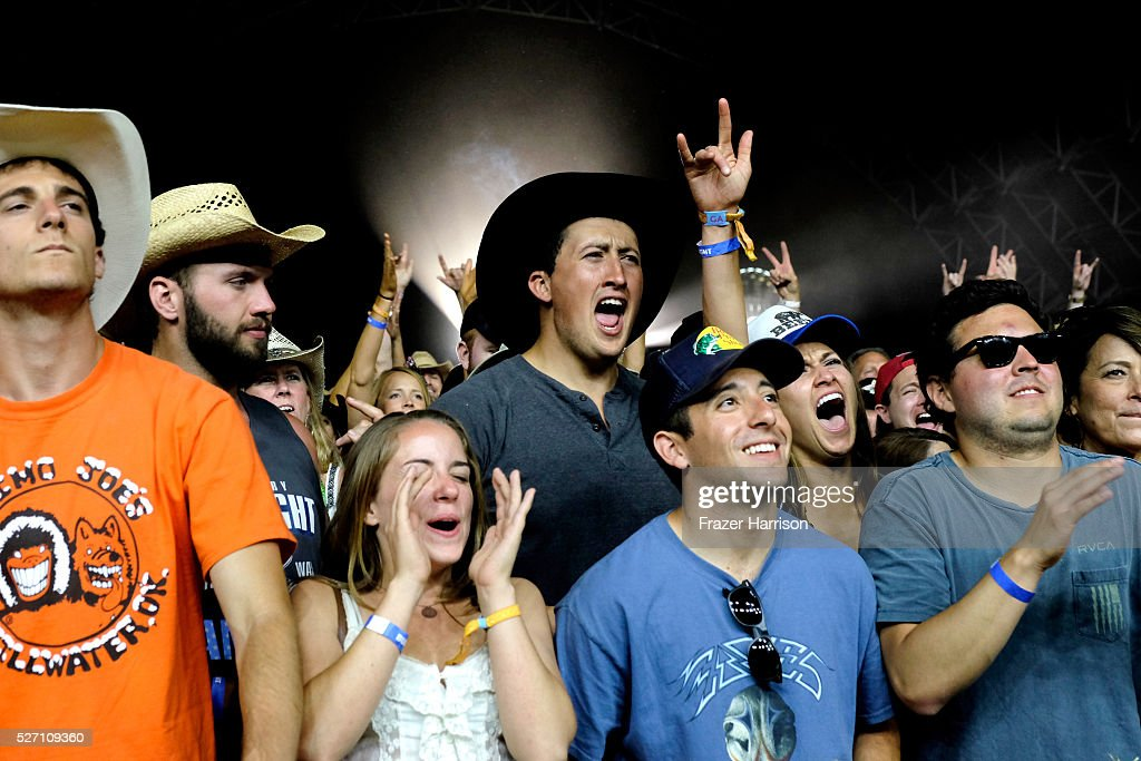 Music fans are seen at Palomino stage during the Doobie Brothers performance at 2016 Stagecoach California's Country Music Festival at Empire Polo Club on May 01, 2016 in Indio, California.