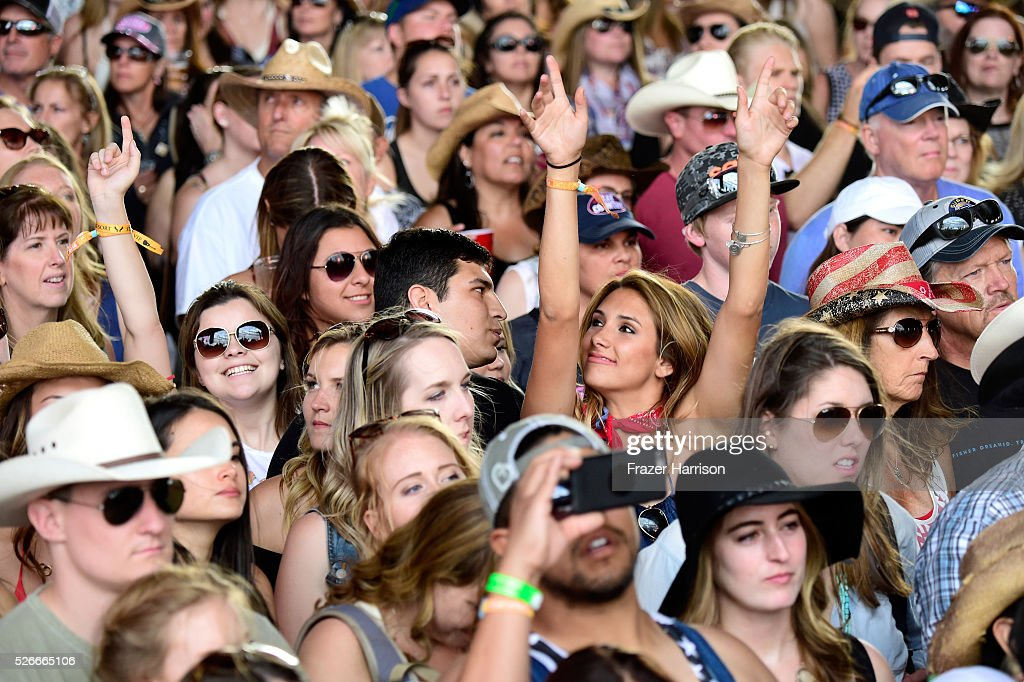 Music fans are seen at the Palomino stage during 2016 Stagecoach California's Country Music Festival at Empire Polo Club on April 30, 2016 in Indio, California.