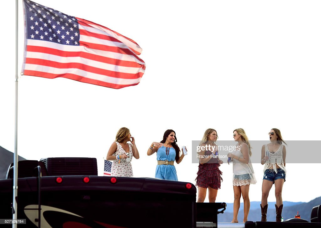 Music fans are seen during 2016 Stagecoach California's Country Music Festival at Empire Polo Club on May 01, 2016 in Indio, California.