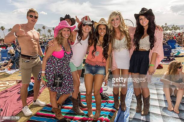 Music fans are seen during day 1 of 2014 Stagecoach California's Country Music Festival at the Empire Polo Club on April 25 2014 in Indio California