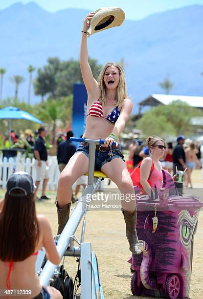 Music fans are seen during day 3 of 2014 Stagecoach California's Country Music Festival at the Empire Polo Club on April 27 2014 in Indio California