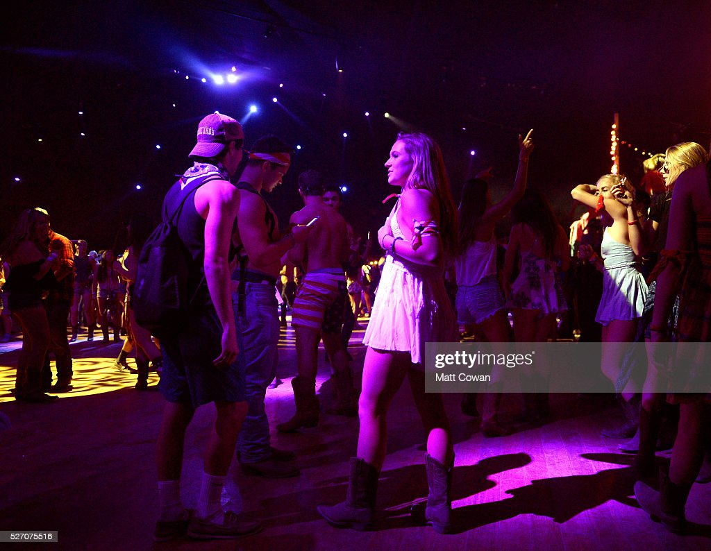 Music fans are seen in the Honky Tonk during 2016 Stagecoach California's Country Music Festival at Empire Polo Club on May 01, 2016 in Indio, California.