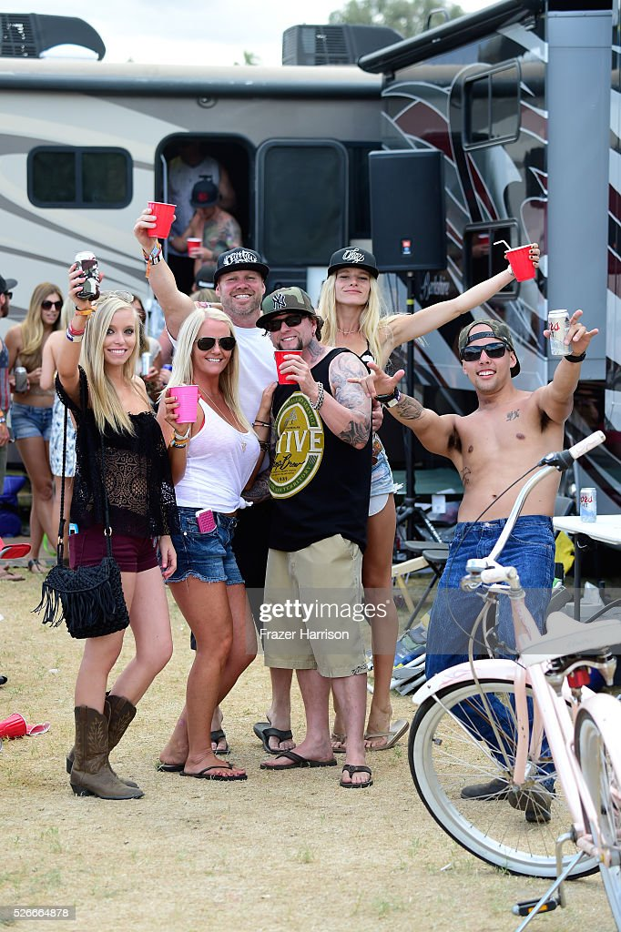 Music fans are seen in the RV park during 2016 Stagecoach California's Country Music Festival at Empire Polo Club on April 30, 2016 in Indio, California.