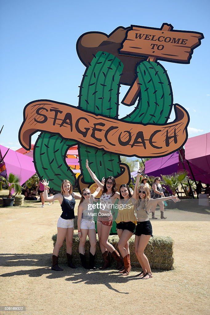 Music fans attend 2016 Stagecoach California's Country Music Festival at Empire Polo Club on April 29, 2016 in Indio, California.