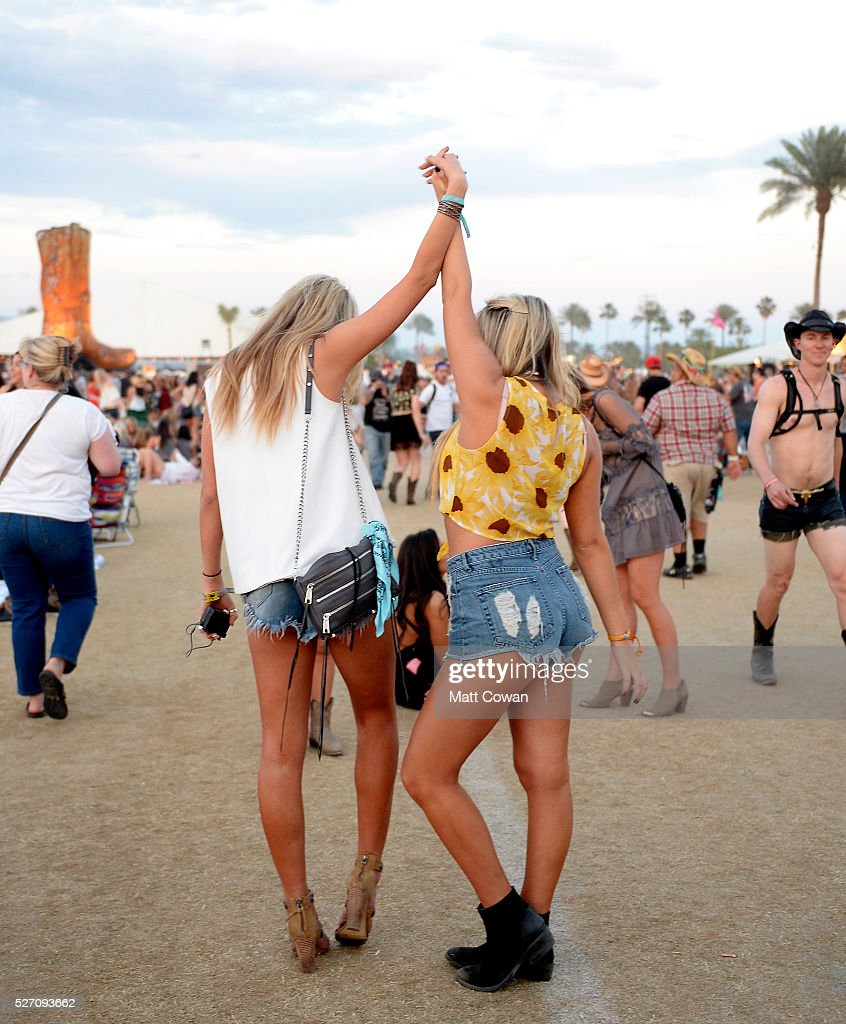 Music fans attend 2016 Stagecoach California's Country Music Festival at Empire Polo Club on May 01, 2016 in Indio, California.