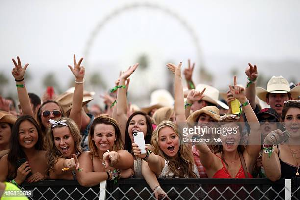 Music fans attend day 1 of 2014 Stagecoach California's Country Music Festival at the Empire Polo Club on April 25 2014 in Indio California
