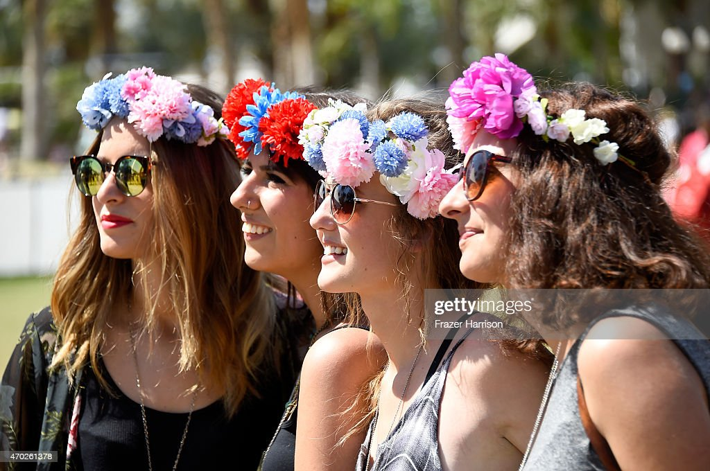 Music fans attend day 2 of the 2015 Coachella Valley Music And Arts Festival at The Empire Polo Club on April 18 2015 in Indio California
