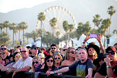 Music fans attend day 2 of the 2015 Coachella Valley Music Arts Festival at the Empire Polo Club on April 11 2015 in Indio California
