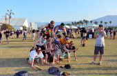 Music fans attend day 3 of the 2014 Coachella Valley Music Arts Festival at the Empire Polo Club on April 20 2014 in Indio California