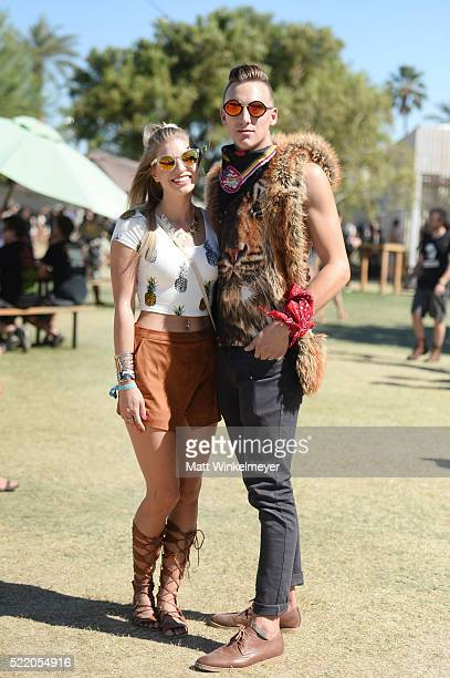 Music fans attend day 3 of the 2016 Coachella Valley Music Arts Festival at the Empire Polo Club on April 17 2016 in Indio California