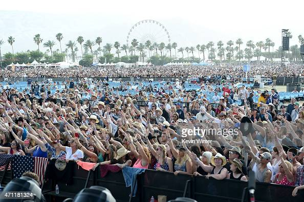Music fans attend day two of 2015 Stagecoach California's Country Music Festival at The Empire Polo Club on April 25 2015 in Indio California