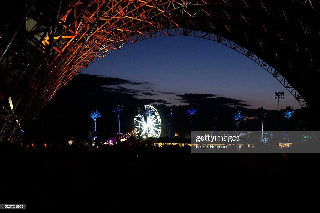 Music fans attend John Fogerty's performance during 2016 Stagecoach California's Country Music Festival at Empire Polo Club on April 30, 2016 in Indio, California.