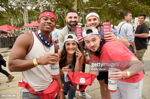 Music fans attend the 2017 Budweiser Made in America festival Day 2 at Benjamin Franklin Parkway on September 3 2017 in Philadelphia Pennsylvania
