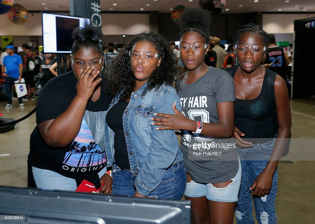 Music fans attend the Fan Fest during the 2016 BET Experience on June 26, 2016 in Los Angeles, California.