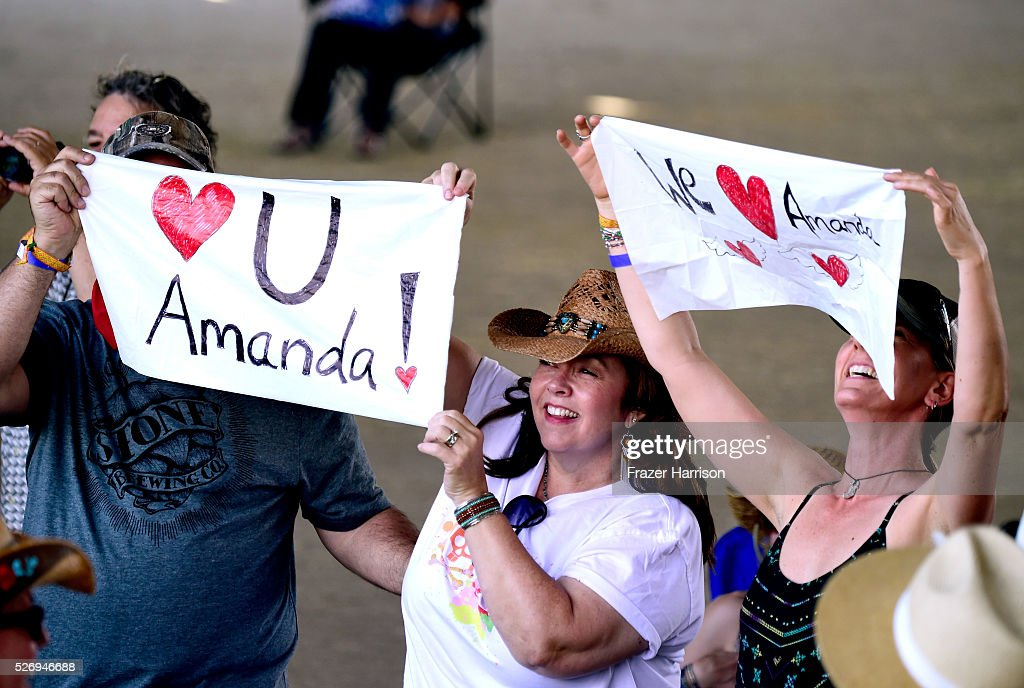 Music fans attend the performance of musician Amanda Shires during 2016 Stagecoach California's Country Music Festival at Empire Polo Club on May 01, 2016 in Indio, California.