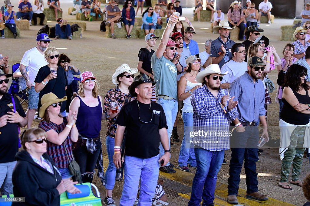 Music fans attend the performance of These Wild Plains during 2016 Stagecoach California's Country Music Festival at Empire Polo Club on April 30, 2016 in Indio, California.
