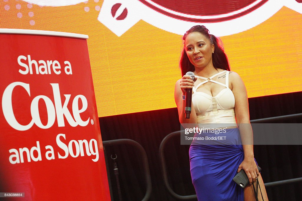 Music fans attends the Coke music studio during the 2016 BET Experience on June 25, 2016 in Los Angeles, California.