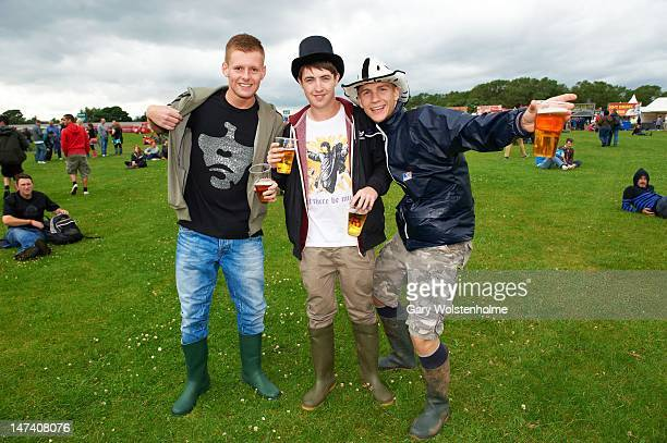 Music Fans await the Stone Roses at Heaton Park on June 29 2012 in Manchester United Kingdom