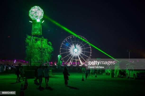 Music fans camp out at the Empire Polo Club on the eve of the 2017 Coachella Valley Music And Arts Festival on April 13 2017 in Indio California