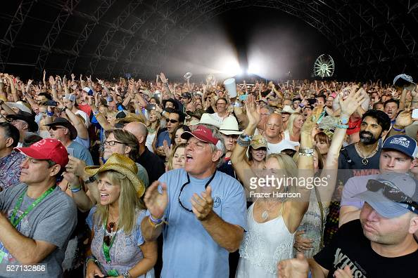 Music fans during 2016 Stagecoach California's Country Music Festival at Empire Polo Club on May 01 2016 in Indio California