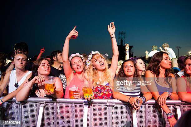 Music fans enjoy Day 1 of Benicassim Music Festival on July 17 2014 in Benicasim Spain