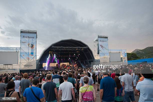 Music fans enjoy Day 2 of Benicassim Music Festival on July 18 2014 in Benicasim Spain