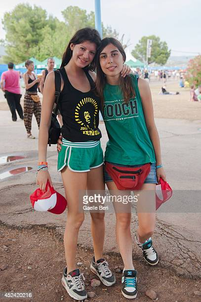 Music Fans enjoy Day 3 of Benicassim Music Festival on July 19 2014 in Benicasim Spain