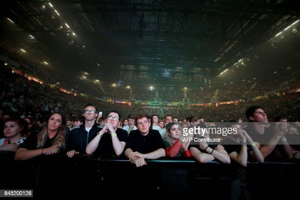 Music fans fill the venue during the 'We Are Manchester' charity concert at the Manchester Arena in Manchester northwest England on September 9 2017...